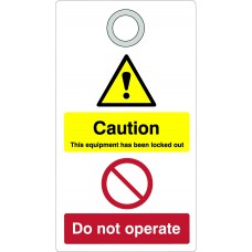 Lockout Tag with eyelet- Caution (Double Sided, Single)