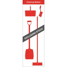 Shadowboard - Cleaning Station Style A (Red) With Hooks - NO STOCK