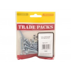 "1 1/4"" x 10 ZP Pan Head Self Tapping Screws  (Pack of 25)"