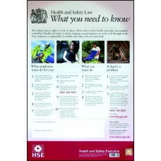 Health & Safety Poster - LAM Welsh Language (420 x 594mm)