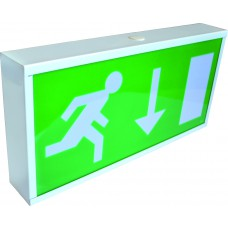 Emergency Exit Box (Metal) 390 x 190 x 60mm - Non Maintained  with up arrow fascia