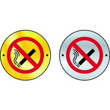 No smoking graphic door disc - SSS (75mm dia.)