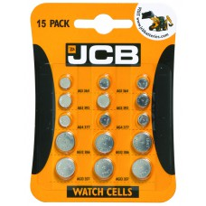 JCB - Batteries - Coin Cell Assorted x 15