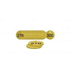 27mm dia. Brass Filled Tags (276 to 300)