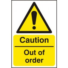 Caution Out of order - RPVC (200 x 300mm)