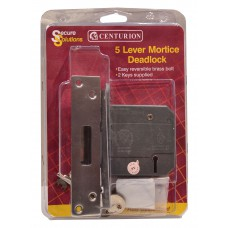 "75mm (3"") Chromed 5 Lever BS3621 Mortice Dead Lock"