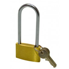 "40mm (1 1/2"") Brass Long Shackle Padlock"