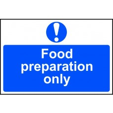 Food preparation only - PVC (300 x 200mm)