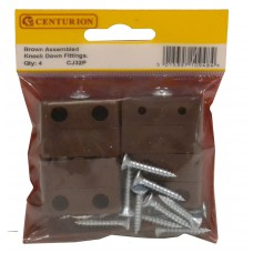 Brown Assembled Knock Down Fittings (Pack of 4)