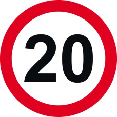 450mm dia. Dibond 20mph Road Sign (without channel)