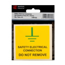 Safety Electrical Connection Do Not Remove - 100 Roll SAV (75 x 75mm)