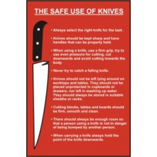 The safe use of knives (Information) - PVC (200 x 300mm)