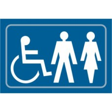 Disabled / Ladies / Gentlemen graphic - Taktyle (225 x 150mm)