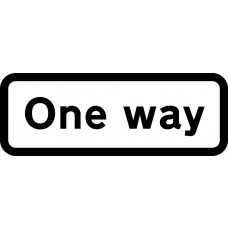 659 x 188mm Dibond 'One Way' Road Sign (with channel)