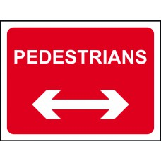 1050 x 750mm  Temporary Sign & Frame - Pedestrians (arrow left & right)