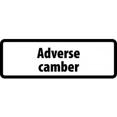 Supplementary Plate 'Adverse camber' - ZIN (860 x 360mm)