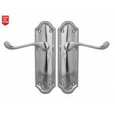 Polished Chrome Napoli Suite Lever Latch Long Plate