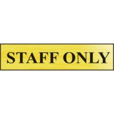 Staff only - BRG (220 x 60mm)