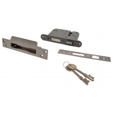 "75mm (3"") Brassed 5 Lever BS3621 Mortice Sash Lock"