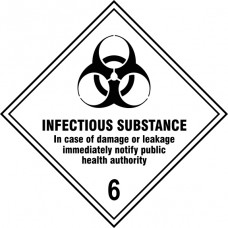 Infectious Substance 6 - Labels (250 x 250mm Pack of 10)