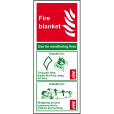 Fire blanket - PVC (75 x 200mm)
