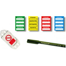 Harness Inspection Kit Mixed Colour (40 inserts, 10 green/yellow/red/blue inserts,1 pen)