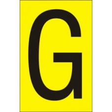 75mm Yellow Vinyl - Character 'G'   (Pack of 10)