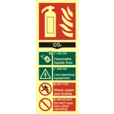 Fire extinguisher composite - CO2 - PHO (75 x 200mm)