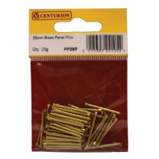 25mm Solid Brass Panel Pins  (25g)