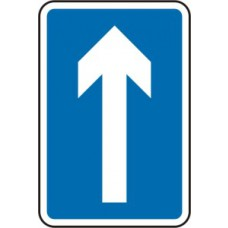 300 x 450mm Dibond Arrow Vertical Road Sign (with channel)