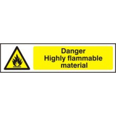 Danger Highly flammable material - PVC (200 x 50mm)