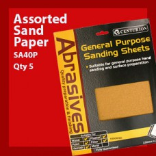 5 Assorted Sandpaper Pack