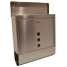 Modern Stainless Steel Post Box