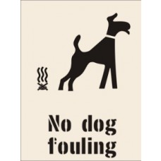 No dog fouling Stencil - 600 x 800mm
