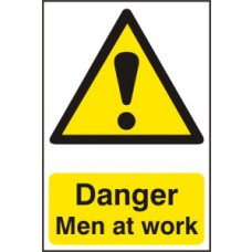 Danger Men at work - PVC (200 x 300mm)