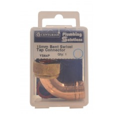 """15mmx1/2"""" Solder Ring Copper Bent Tap Connector"""