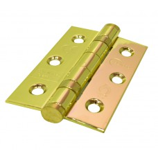 76mm x 51mm Brassed CE7 Stainless Ball Bearing Hinges