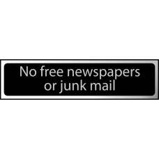 No free newspapers or junk mail - CHR (200 x 50mm)
