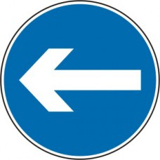 600mm dia. Dibond 'Horizontal Arrow' Road Sign (with channel)