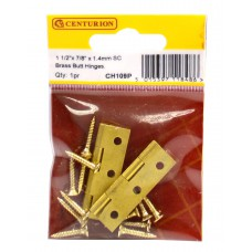 "1 1/2"" x 7/8"" x 1.4mm SC Medium Duty Solid Drawn Butt Hinges (1 pair)"