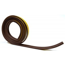 5m Brown 'P' Profile Longlife Foam Draught Excluder - Clip Strip x12
