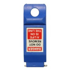 Miniature Circuit Breaker Lockout - Blue Pin Out Wide (6 pack)