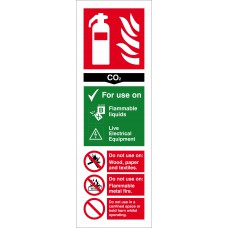 CO2 Extinguisher - RPVC (300 x 100mm)