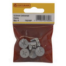 12.5mm ZP Universal Cam Fixings (Pack of 6)