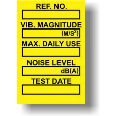 Vibration Control Mini Tag Insert - Yellow (Pack of 20)