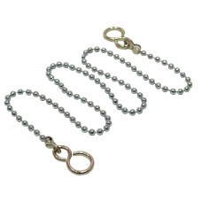 """12"""" No 6 CP Sink/Basin Ball Chain with Hooks"""