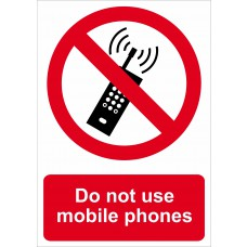 Do not use mobile phones - RPVC (148 x 210mm)