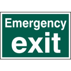 Emergency exit (text only) - PVC (300 x 200mm)