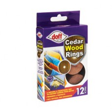 Doff - Cedar Wood Rings (12 PK)
