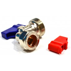 "Angled 15mm x 3/4"" BSP Appliance Stop Valve"
